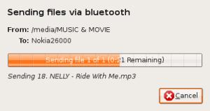 Screenshot-Bluetooth file transfer